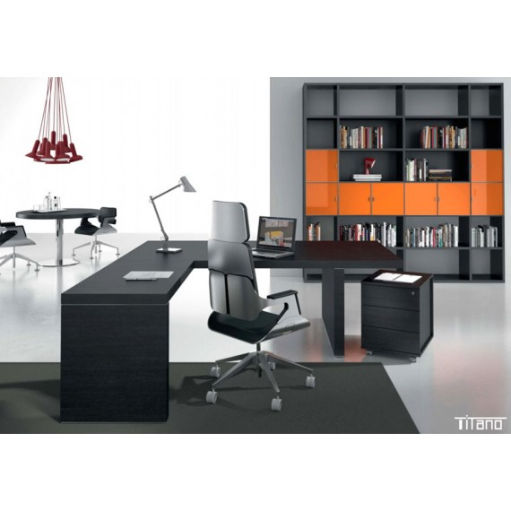 Bureau Direction ébène Titano ambiance orange