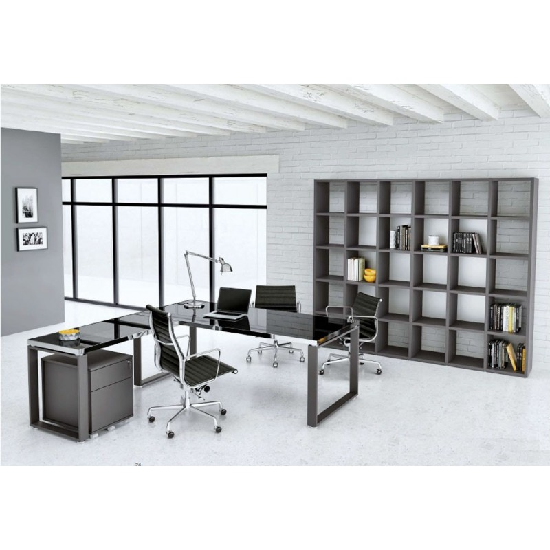 mobilier de bureau archim de 2014 verre et acier. Black Bedroom Furniture Sets. Home Design Ideas