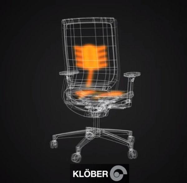 Fauteuil de direction Klöber Motéo style Klimastuhl