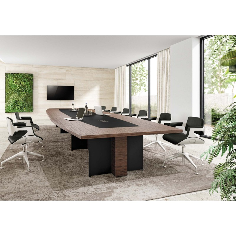 Table de réunion design Aléa Office Oasi Tonneau